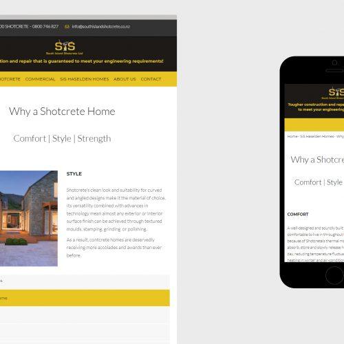 South Island Shotcrete website