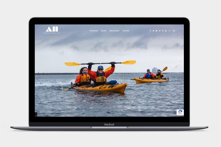 Antarctic Heritage Trust website design by Modern Design