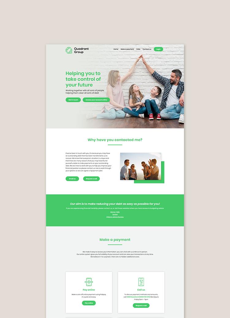 Quadrant Group website + branding by Modern Design